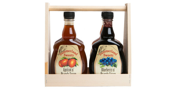 Gift Package #23L: 4 - 341 ml Brandy Syrups Crate