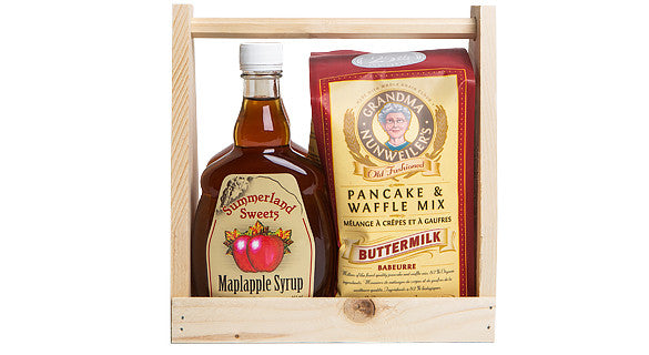 Gift Package #23P: 2 - 341 ml Syrups, 1 Pancake Mix