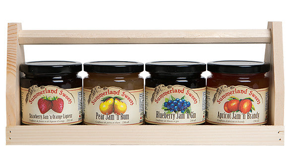 Gift Package #25L: 4 - 250 ml Liqueur Jams Crate