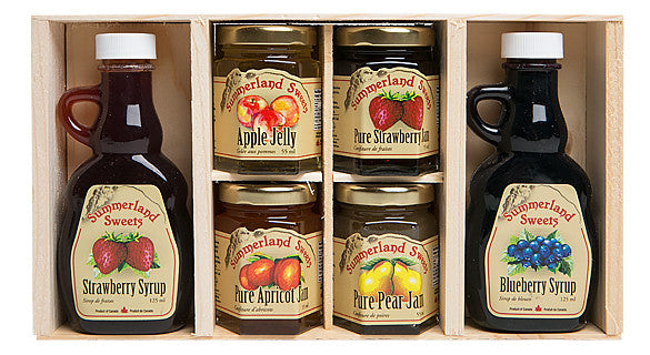 Gift Package #3: 2 - 125 ml Syrups, 4 - 55 ml Jams