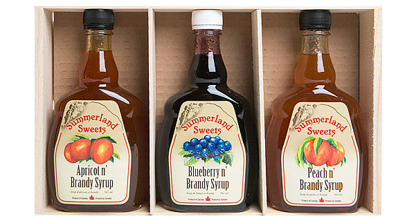 Gift Package #4L: 3 - 341 ml Brandy Syrups