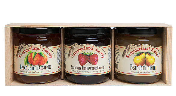 Gift Package #7L: 3 - 250 ml Liqueur Jams