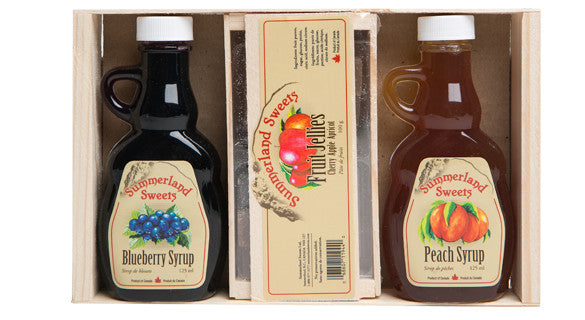Gift Package #16: 2 - 125 ml Syrups, 1 - 100 g Candy