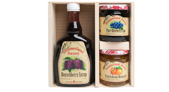 Gift Package #11: 1 - 341 ml Syrup, 2 - 250 ml Jams