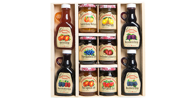 Gift Package #20: 4 - 125 ml Syrups, 6 - 125 ml Jams