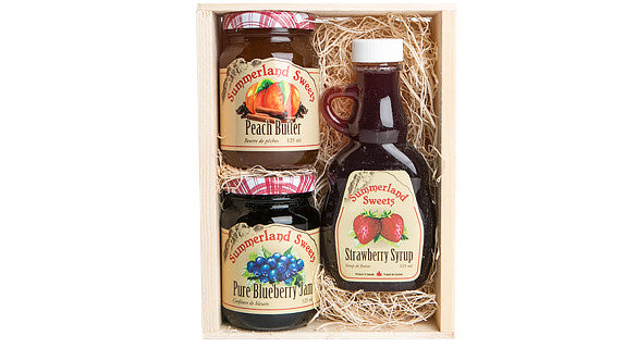 Gift Package #5: 1 - 125 ml Syrup, 2 - 125 ml Jams