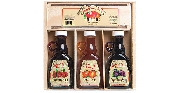 Gift Package #6: 3 - 125 ml Syrups, 1 - 135 g Candy
