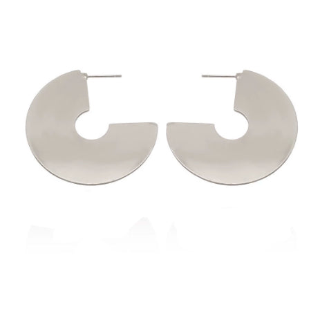 Silver Exaggerated C Hoops