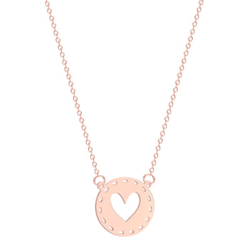 Rose Gold Heart Cut Out Necklace