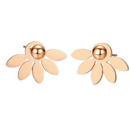 Golden Flower Petal Earrings