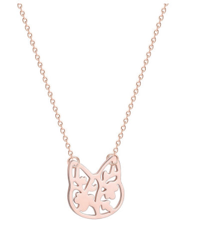 Rose Gold Kitty Necklace