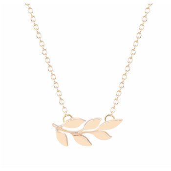 Gold Laurel Leaf Necklace