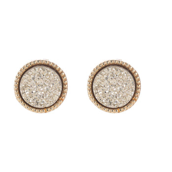 Soft Gold Druzy Stud Earrings