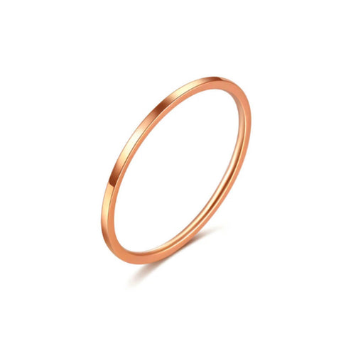 Rose Gold Thin Stack Ring