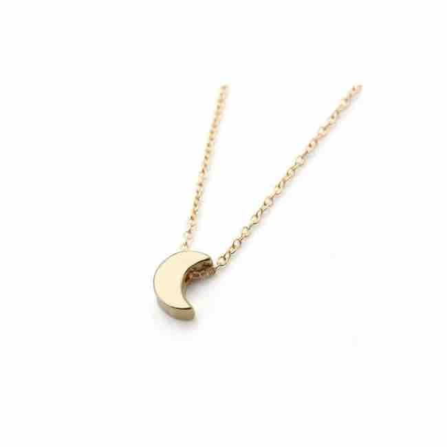 Gold Crescent Moon Pendant