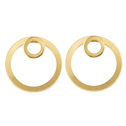 Gold Double Circle Earring