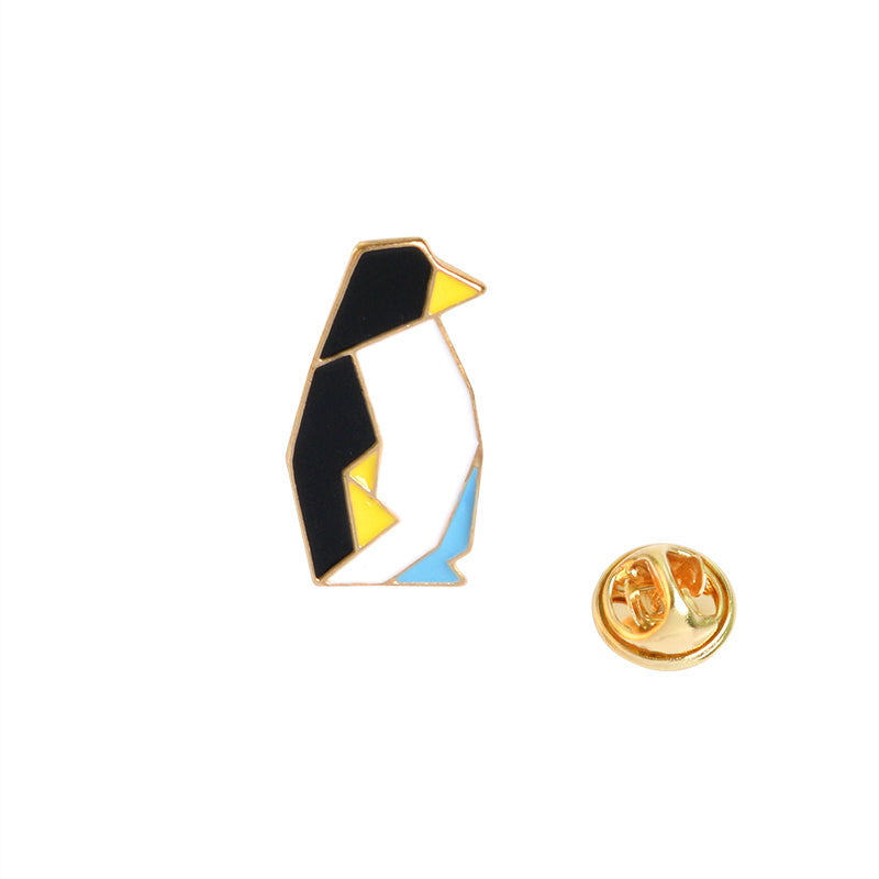 Origami Penguin Brooch