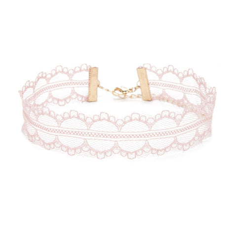 Pink Choker Necklace