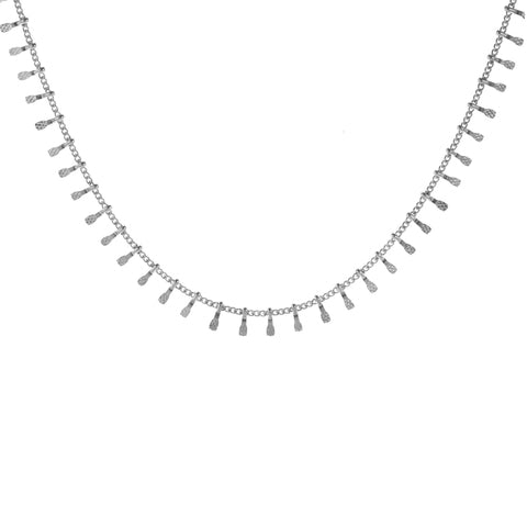 Silver Studded Choker Necklace