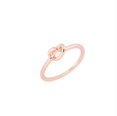 Rose Gold Infinity Knot Ring