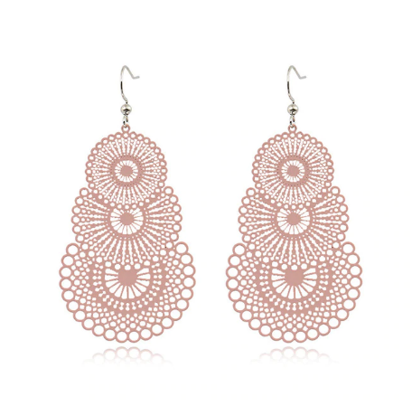 Blush Cut Out Drop Earrings