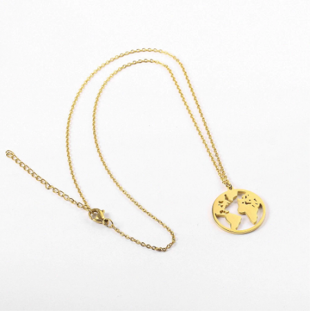 Gold Wonderful World Necklace