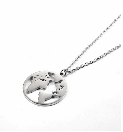 Silver Wonderful World Necklace