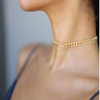 Gold Studded Choker Necklace