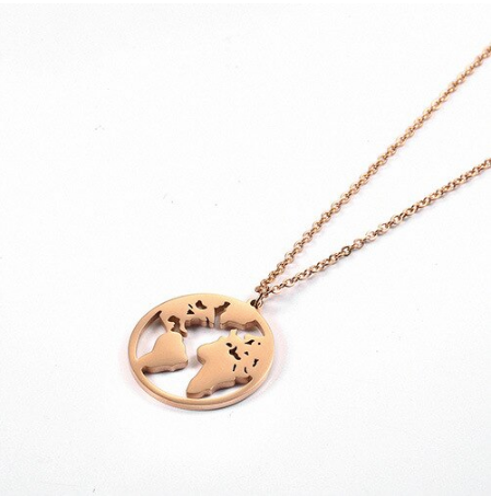 Rose Gold Wonderful World Necklace