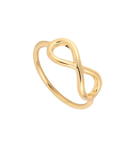Large Gold Infinity Ring