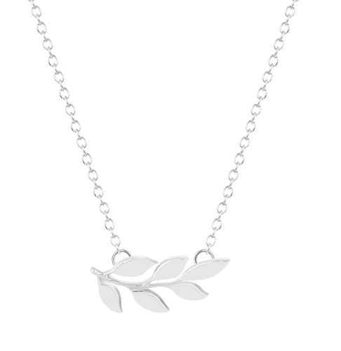 Silver Laurel Leaf Necklace