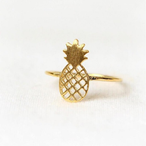 Rose Gold Pineapple Ring