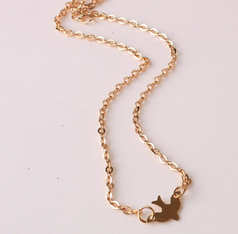 Gold Dove Choker Necklace