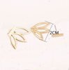Gold T-Bar Earrings