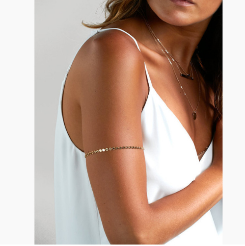 Gold Circle Upper Arm Bracelet