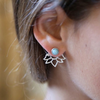 Silver + Turquoise Flower Studs