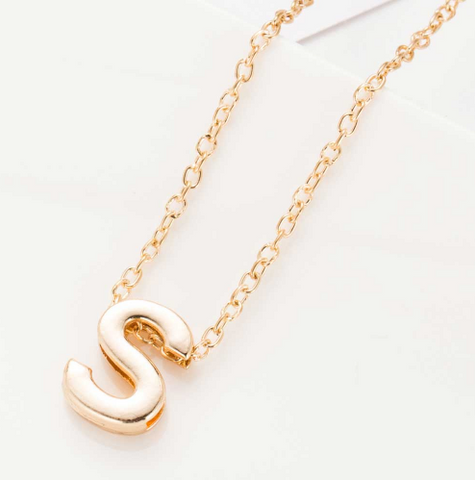 Gold S Pendant Necklace