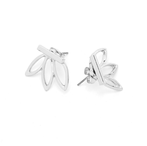 Silver T-Bar Earrings