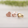 Rose Gold Mini Heart Studs