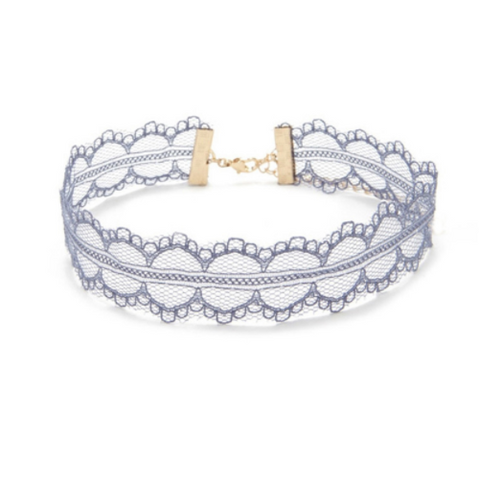 Blue Lace Choker Necklace