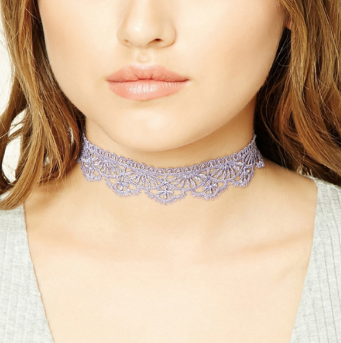 Purple Choker Necklace