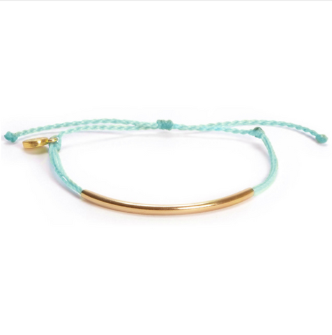 Light Blue and Gold Bracelet