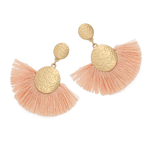 Blush and Gold Statement Earrings