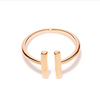 Rose Gold Open Bar Ring