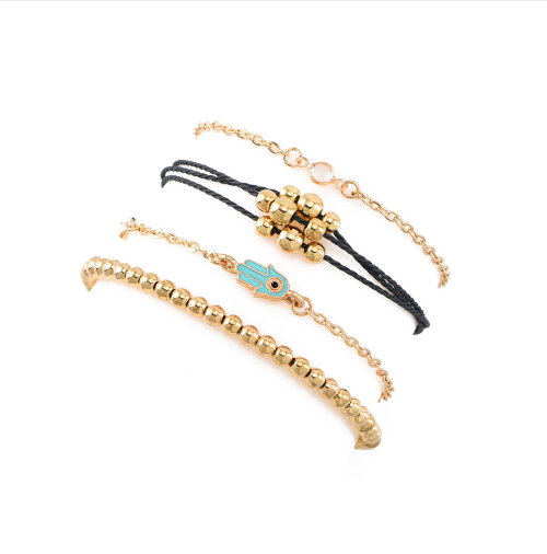 Golden Bracelet Set