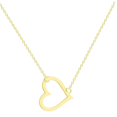Golden Cut Out Heart Necklace