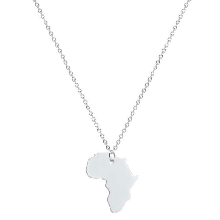 Silver Africa Necklace