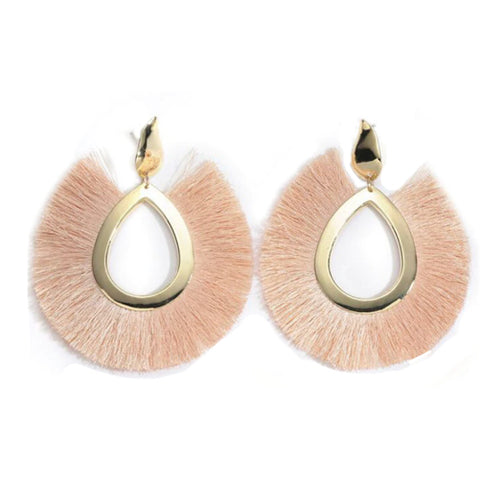 Blush Large Tassel Earrings