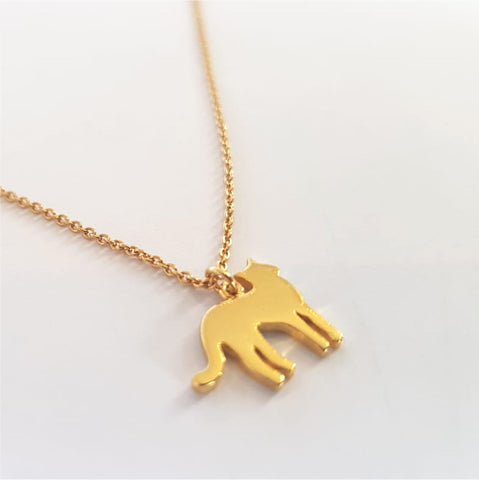 Gold Kitty Necklace