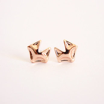 Rose Gold Foxy Studs